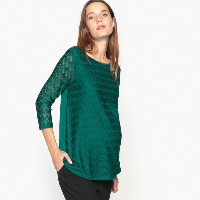 Tee shirt de grossesse en dentelle La Redoute Collections
