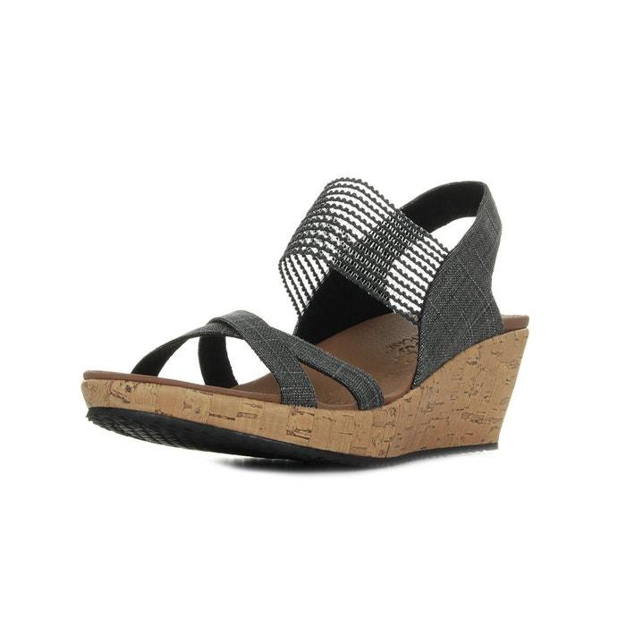 Sandales femme beverlee high tea  gris noir Skechers  La Redoute