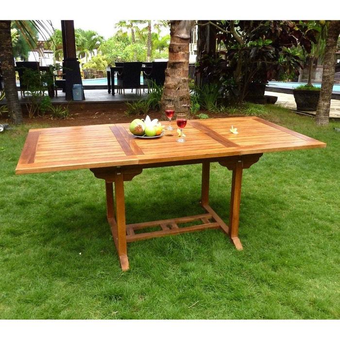 Table ext rieur en teck huil 8 places marron wood en stock la redoute - Entretien table en teck exterieur ...