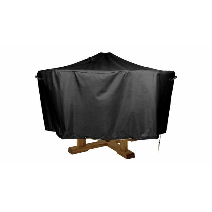 Housse de protection table ronde 130cm noir boutique for Housse de chaise la redoute