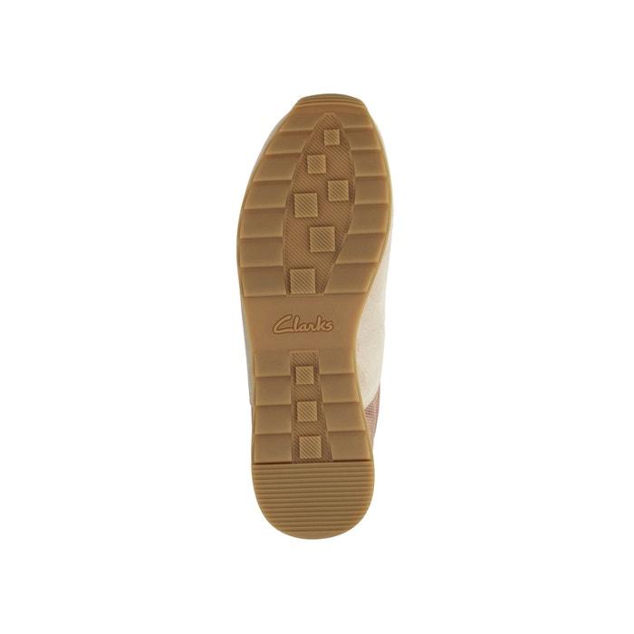 Floura Mix piel Zapatillas de aterciopelada CLARKS ZCUfCq