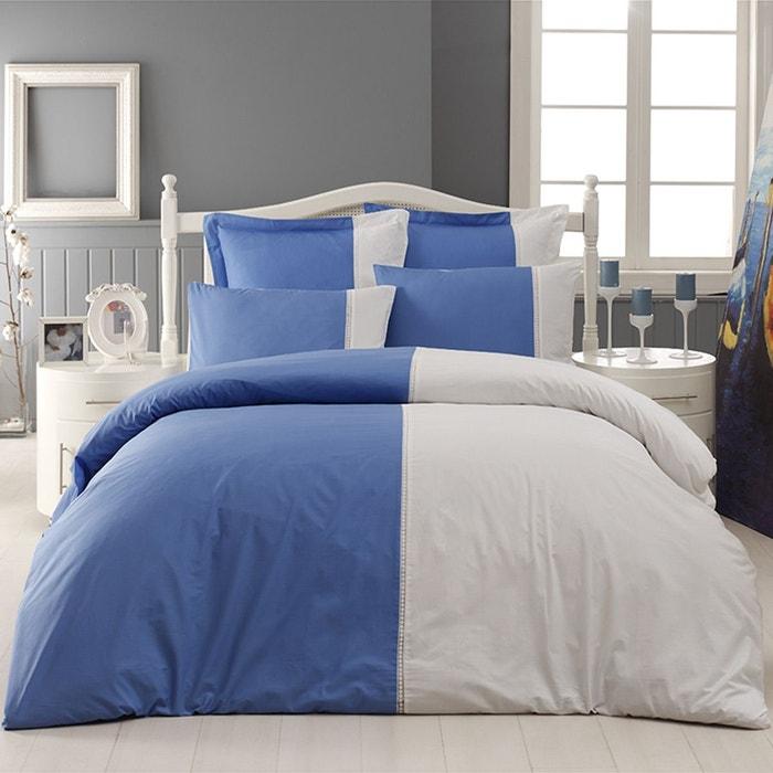 housse de couette percale sensei 80 fils casa bianca ocean blanc sensei la maison du coton la. Black Bedroom Furniture Sets. Home Design Ideas