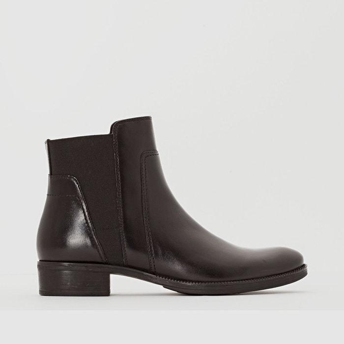 Boots en cuir mendi noir Geox