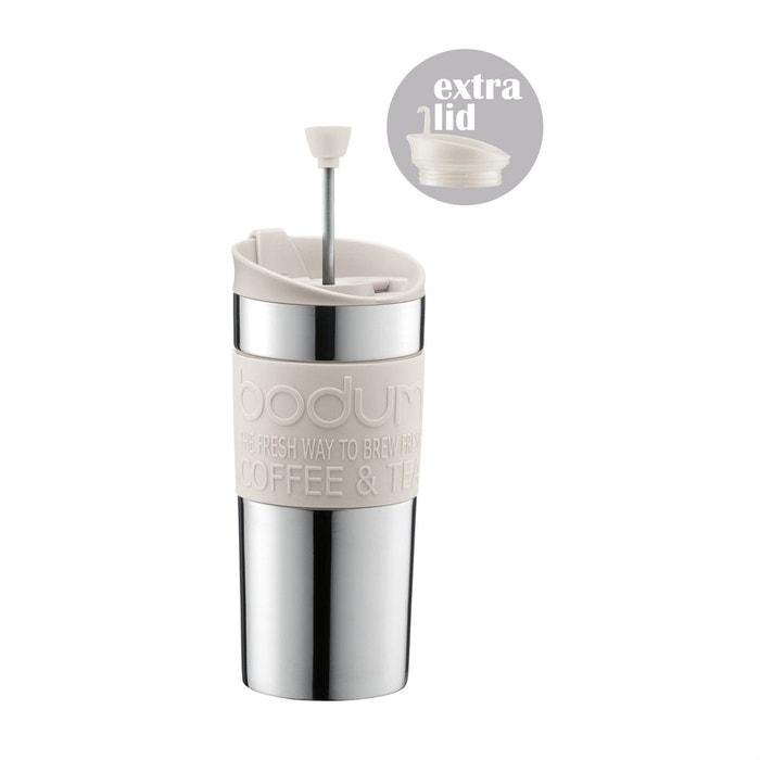 mug isotherme piston en inox k11067 913 blanc cr me. Black Bedroom Furniture Sets. Home Design Ideas