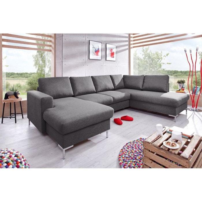 canap panoramique convertible avec coffre gris fonc angle droit gris anthracite bobochic la. Black Bedroom Furniture Sets. Home Design Ideas