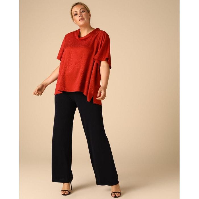Pantalon ample fluide bleu marine Woman Plus El Corte ...
