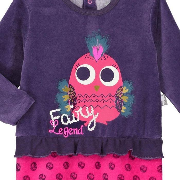 ce18f0f6f29ee Pyjama bébé velours effet 2 pièces fairytails violet Petit Beguin ...