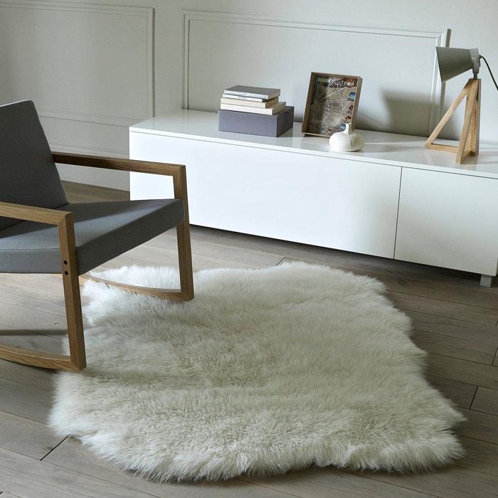 tapis effet peau de mouton livio 110 x 130 cm la redoute interieurs la redoute. Black Bedroom Furniture Sets. Home Design Ideas