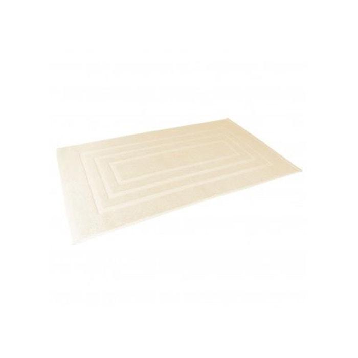 Tapis de bain 50x85 cm uni en eponge naturel home bain la redoute - Redoute tapis de bain ...