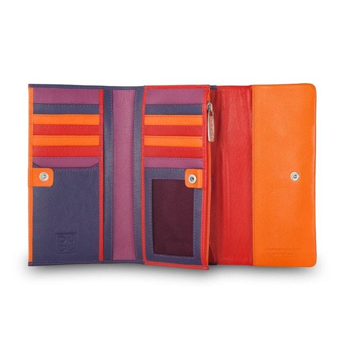 Portefeuille trifold pour femme en cuir multicolore avec rabat de Dudu | La Redoute Magasin De Sortie Pas Cher 99yvw8fs