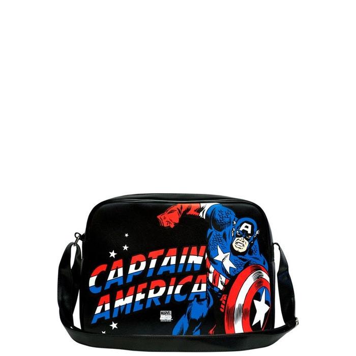 Besace captain america de logoshirt – marvel comics Jeu Pas Cher En Ligne extrêmement Visite Libre Expédition Nouvelle Meilleur Endroit De Sortie bDo9Ki75