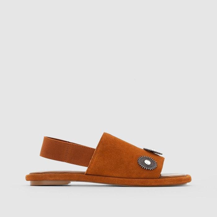 Sandales en cuir, esprit mule