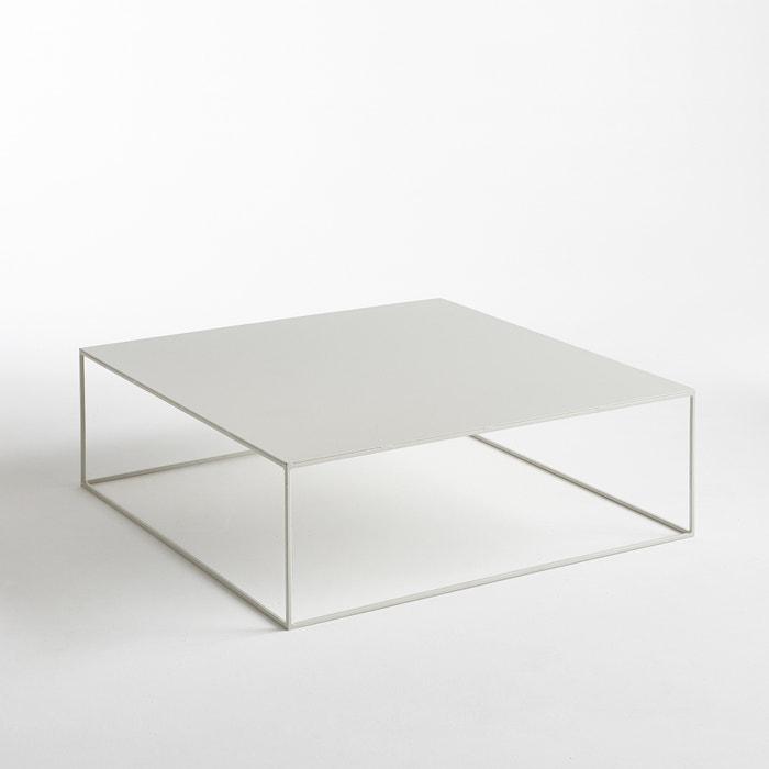 Romy Square Metal Coffee Table Am Pm: Romy Square Metal Coffee Table, Light Grey, Am.Pm.