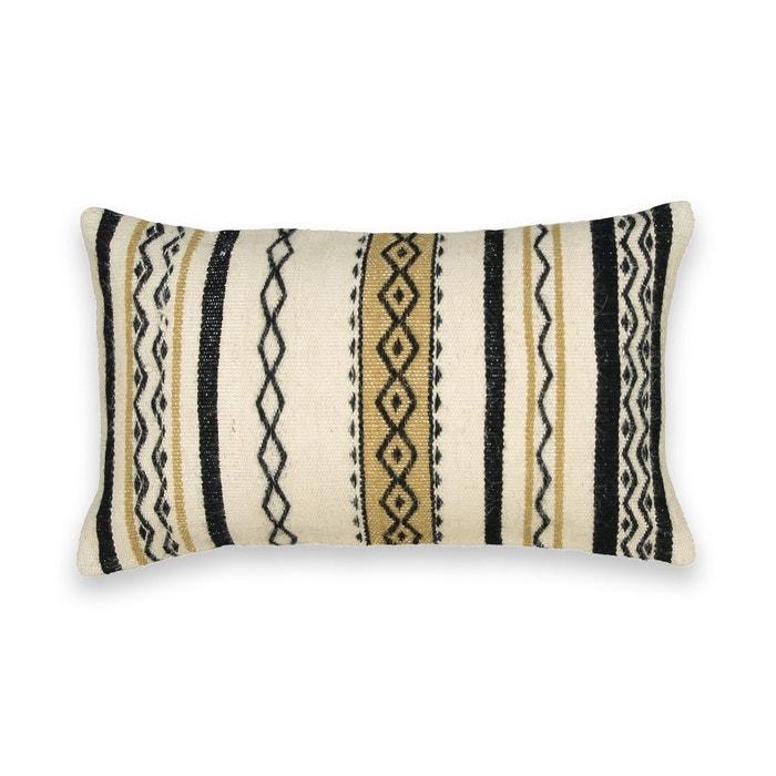 housse de coussin style berb re rubace ecru noir am pm la redoute. Black Bedroom Furniture Sets. Home Design Ideas