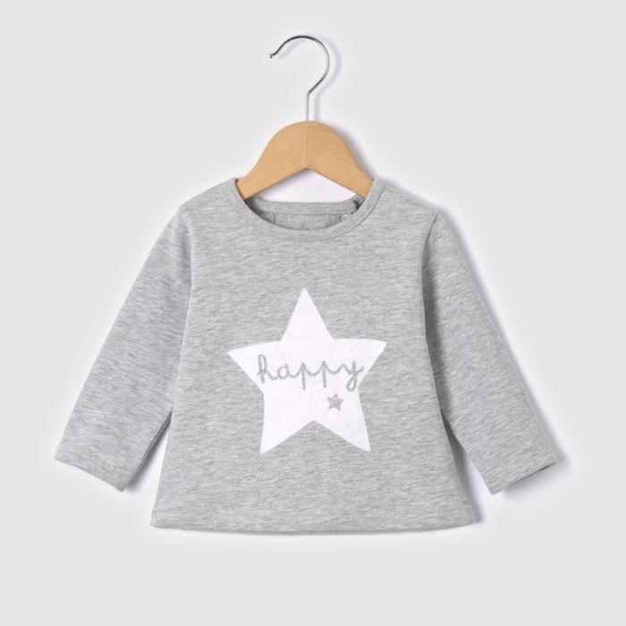 Bedrucktes Sweatshirt mit Druckknopfverschluss, 0 Monate - 3 Jahre  La Redoute Collections image 0