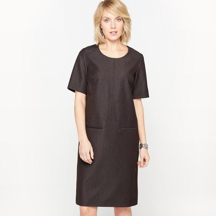 afbeelding Rechte jurk in stretch keperstof ANNE WEYBURN