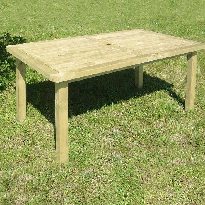 Table de Pique-Nique en Bois Autoclave 200 cm 28 mm Picnic