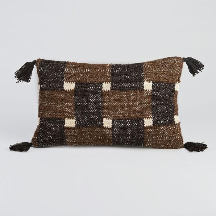 housse de coussin livilla noir kaki am pm la redoute. Black Bedroom Furniture Sets. Home Design Ideas