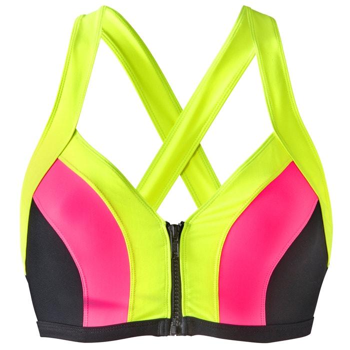 cremallera bikini x top de Sophie Redoute Malagola con Sujetador fluorescente multicolor La zqxBnTUw
