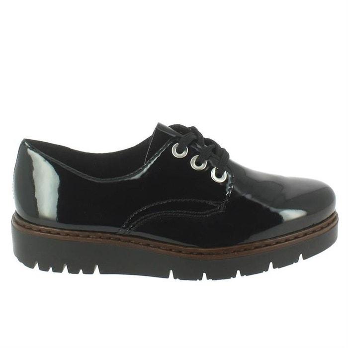 80465ffcab3d0 Chaussures à lacets cuir + synthetique noir Rieker   La Redoute