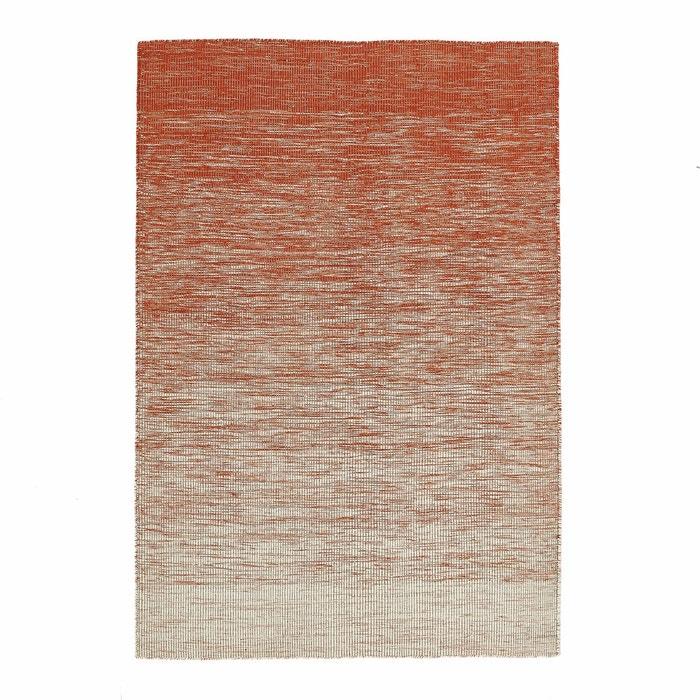 Tapis tiss plat motif kilim en laine abradant naturel orange am pm la r - Tapis laine la redoute ...