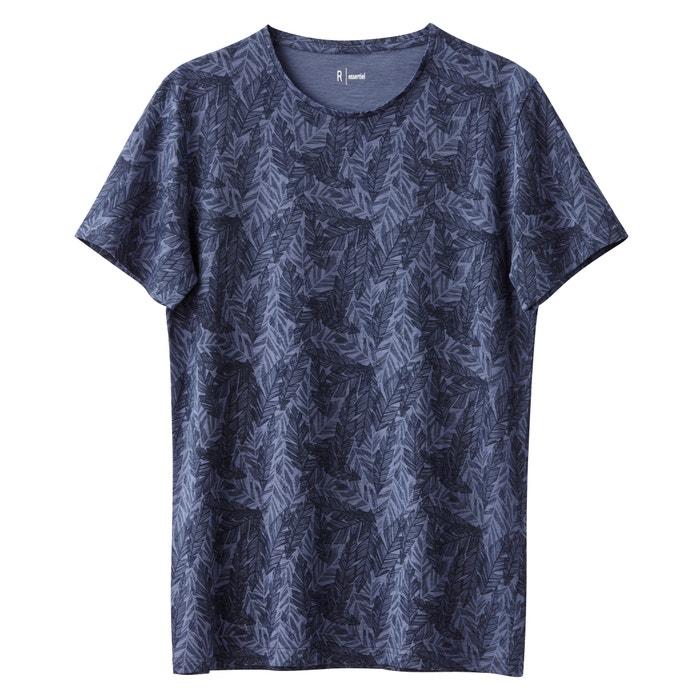 Image T-shirt col rond imprimé 100% coton R essentiel