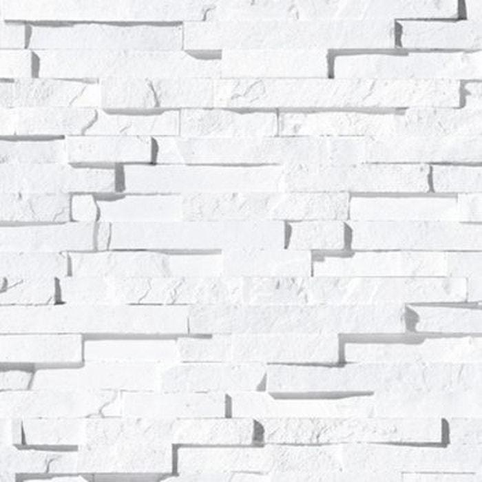 Papier peint blocs de craie blanche blanc Koziel | La Redoute