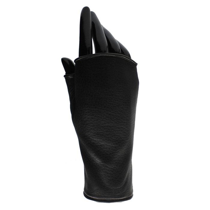 Mitaines en cuir femme pauline noir Agnelle | La Redoute Prix Le Plus Bas Pas Cher rk0Yds1F