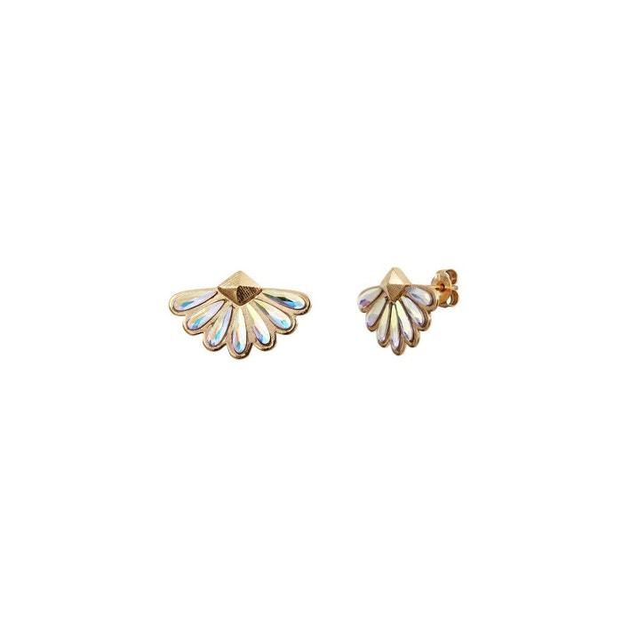 Livraison Gratuite Sortie Boucles d'oreilles puces dorées crystal ab calypso blanc Caroline Najman | La Redoute réal Grande Remise En Vente antBfbc
