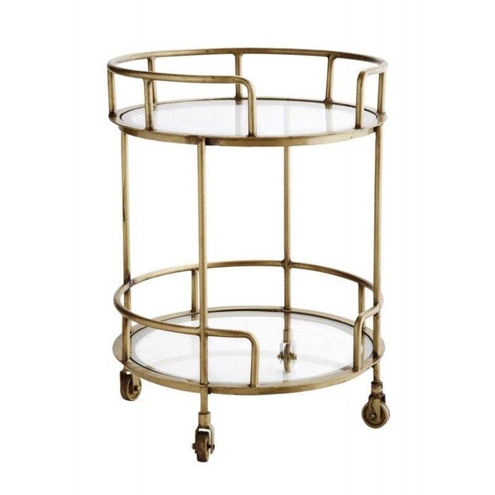 desserte roulettes ronde vintage madam stoltz laiton madam stoltz la redoute. Black Bedroom Furniture Sets. Home Design Ideas