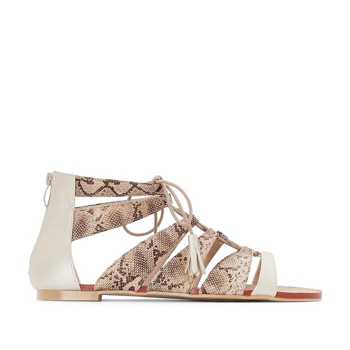 Wide-Fit Two-Tone Sandals, Sizes 38-45  CASTALUNA image 0