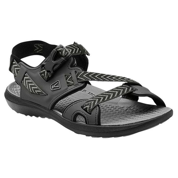 Maupin - sandales homme - gris/noir noir Keen