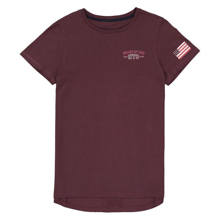 T-shirt scollo rotondo fantasia davanti dietro 10-16 anni  La Redoute Collections image 0