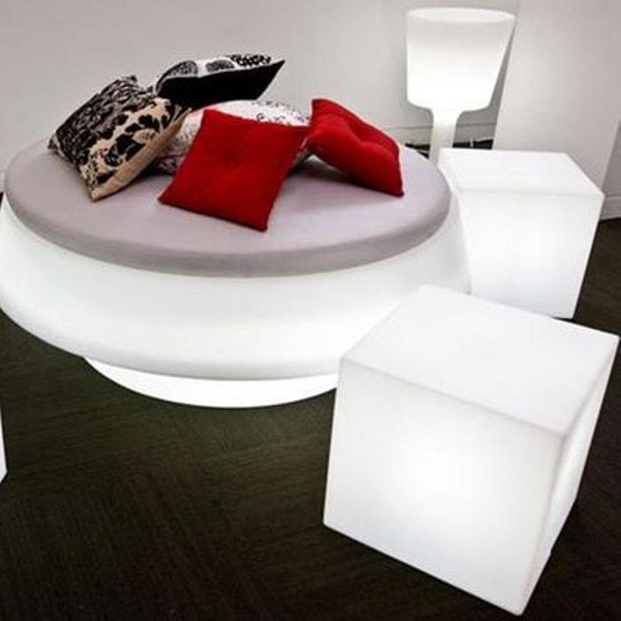 Cubo Cube Lumineux D 39 Ext Rieur Blanc H40cm Luminaire D