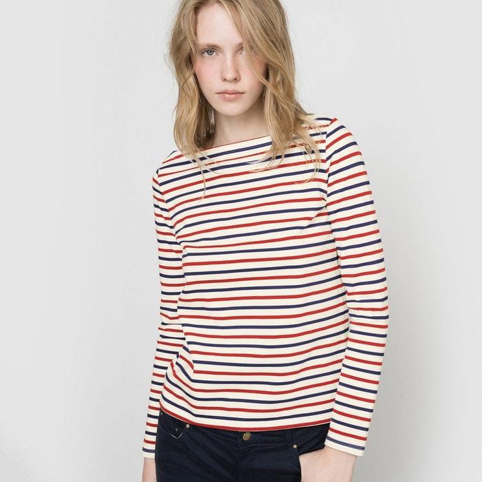 T-shirt rayé manches longues R essentiel