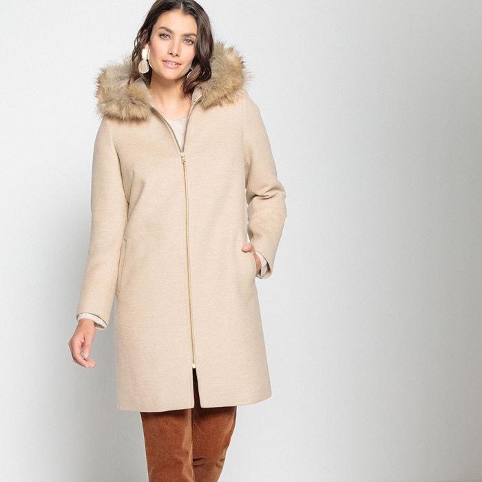 Manteau mi-long à capuche, fermeture zippée  ANNE WEYBURN image 0