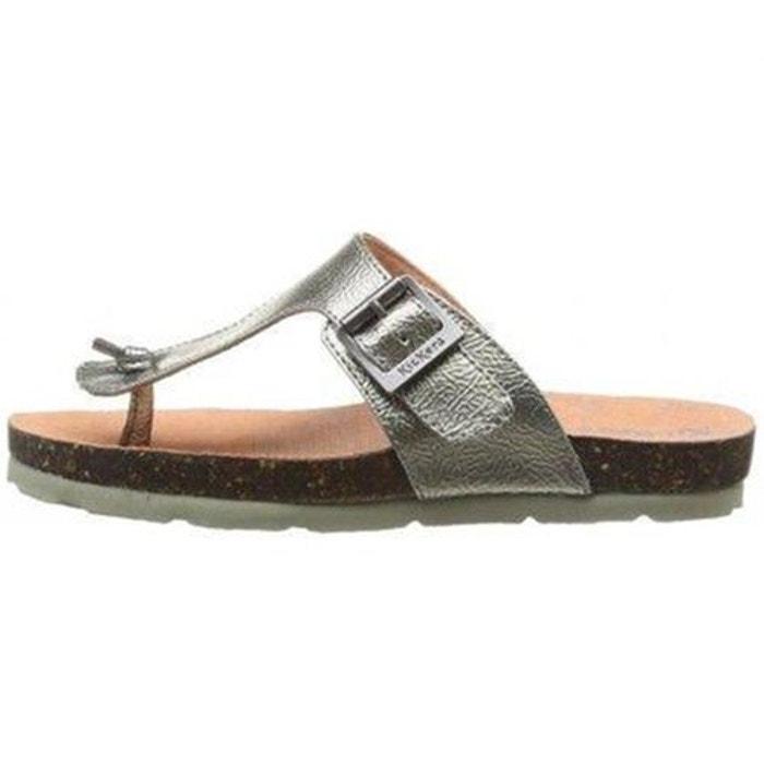 Sandales  /  nu-pieds cuir  noir Kickers  La Redoute
