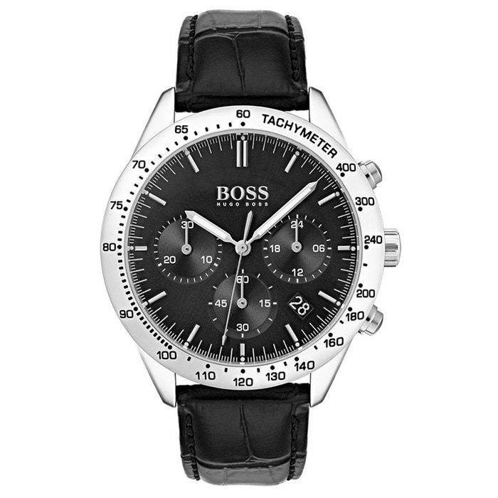 Montre boss en cuir noir noir Boss Jeu En Ligne F8BgxoA5TB