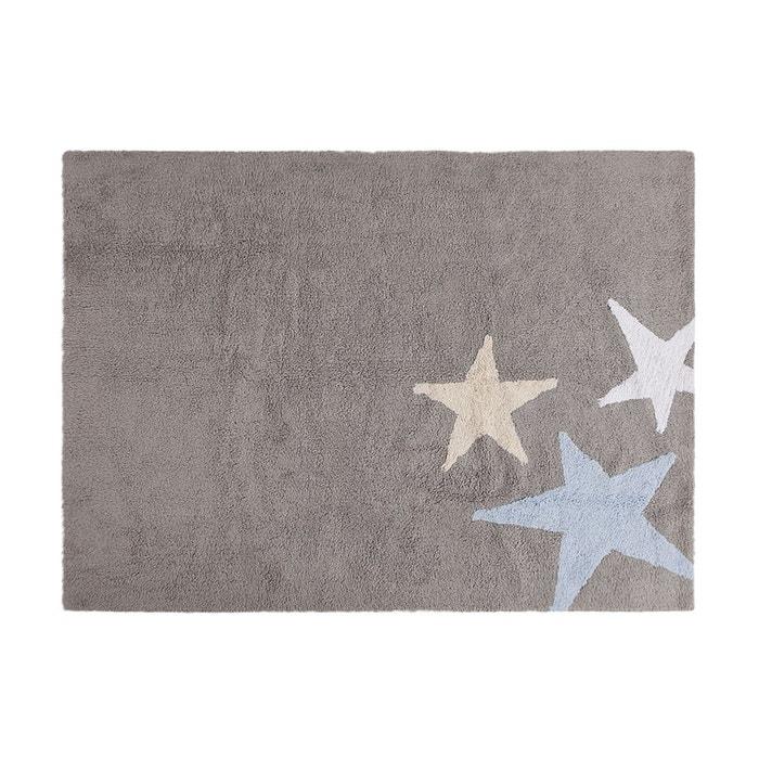 tapis lavable en machine enfant en coton bleu tres estrellas lorena canals bleu lorena canals. Black Bedroom Furniture Sets. Home Design Ideas