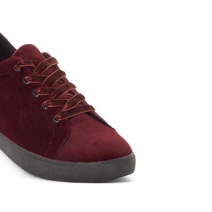 afbeelding Fluwelen sneakers, brede voet CASTALUNA
