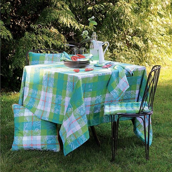 nappe mille panache peacock bleu vert garnier thiebaut la redoute. Black Bedroom Furniture Sets. Home Design Ideas