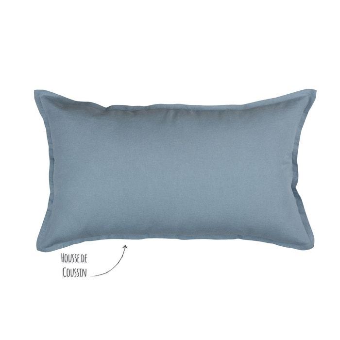 housse de coussin en lin lav uni fermeture glissi re. Black Bedroom Furniture Sets. Home Design Ideas