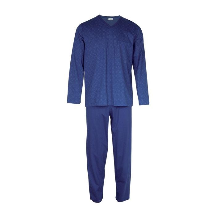 pyjama homme long h ritage square marine marine eminence la redoute. Black Bedroom Furniture Sets. Home Design Ideas