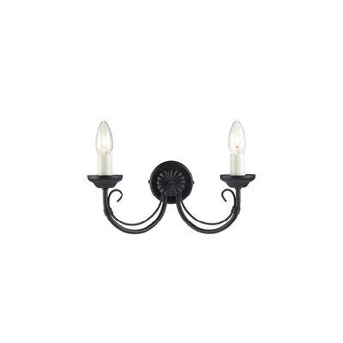 applique murale chartwell 2x60w noir elstead lighting. Black Bedroom Furniture Sets. Home Design Ideas
