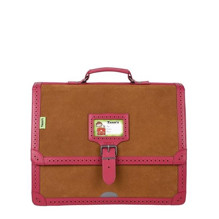5ef5559524376 Cartable v015373>cuir les cuirs 13 cuir rose Tann's   La Redoute