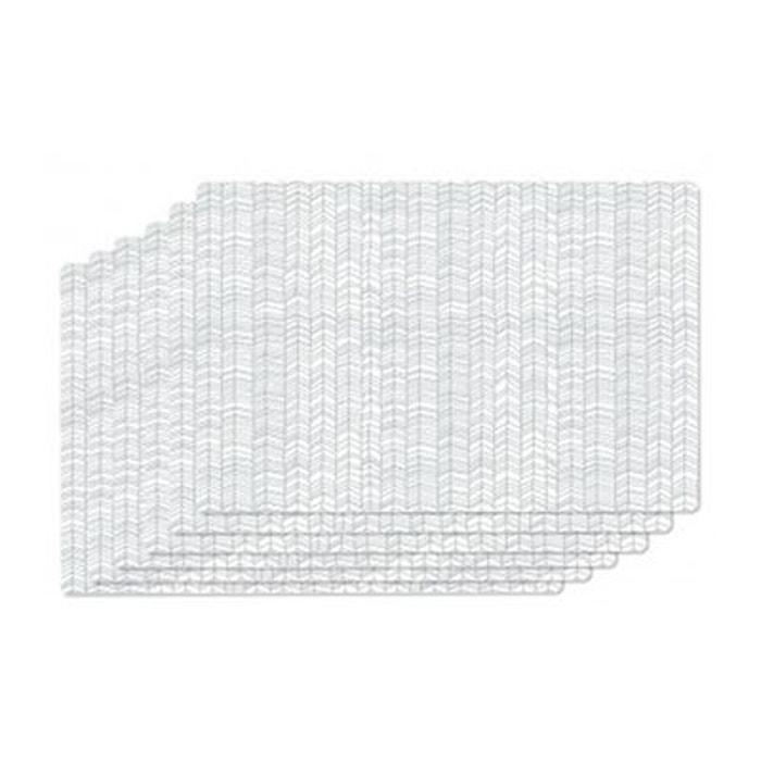 set de table vinyle gris et blanc zentangle set de 6 gris wadiga la redoute. Black Bedroom Furniture Sets. Home Design Ideas