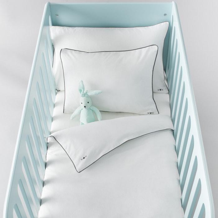Housse de couette bébé, unie, en coton.  La Redoute Interieurs image 0