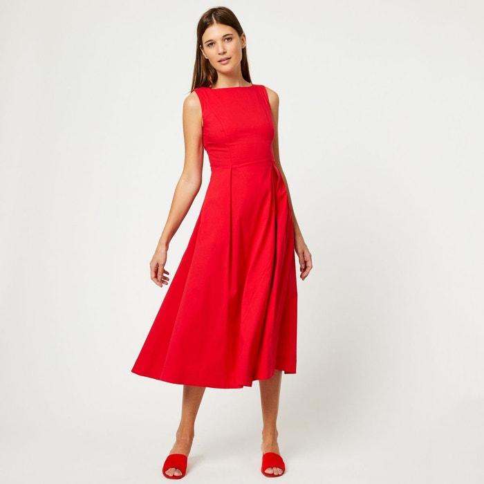 268a86815d4f6 Robe longue col rond rouge Monoprix   La Redoute