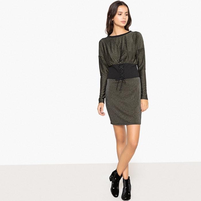 a063582ae5b724 Korte aansluitende jurk met lange mouwen - LA REDOUTE COLLECTIONS