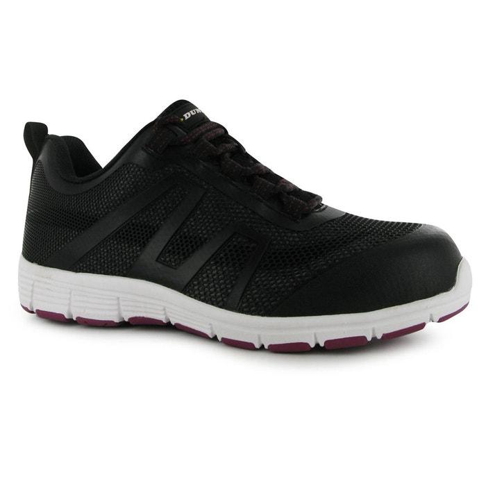 39daeb92b044e Bottes bottines de travail sécurité noir   rose Dunlop